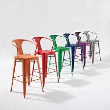 Crosley Furniture Outdoor Crosley Furniture Amelia Metal Cafe Barstool With Back In