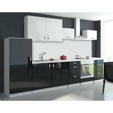 cuisine noir laqué pas cher cuisine noir brillant cuisine complate 3m20 oxin noir et blanc