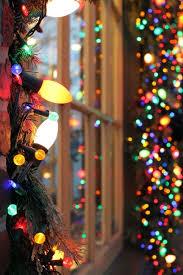 snow winter santa lights tree