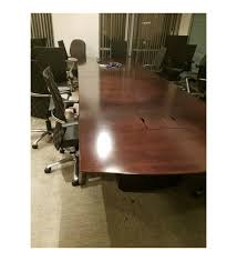 dark wood conference table used dark wood conference table with electrical components 14 6x4 6