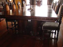custom made by troy wesnidge dining room table s12 u0027 long 5 u0027 wide