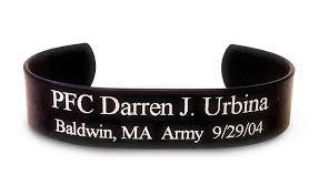 memorial bracelets for loved ones herobracelets black memorial herobracelet