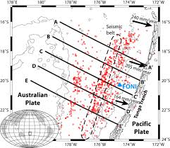 Tonga Map Slab Temperature Controls On The Tonga Double Seismic Zone And