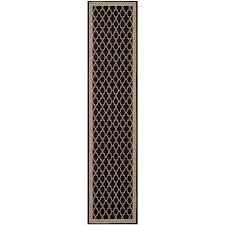 Indoor Outdoor Rug Runner by Striped Black Outdoor Rugs Rugs The Home Depot