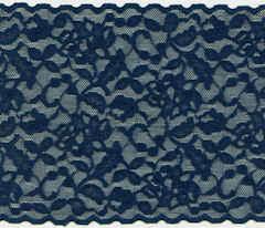 navy blue lace ribbon wide stretch lace trim sew sassy fabrics