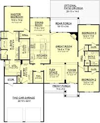 Floor Plan Image Craftsman Style House Plan 3 Beds 2 00 Baths 2136 Sq Ft Plan 430 91