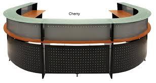 u shaped reception desk shaped 2 person glass top reception desk