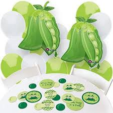 two peas in a pod baby shower decorations two peas in a pod confetti and balloon party decorations