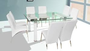 white square kitchen table 60 inch gloria square glass chrome cream white table w chairs