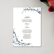 muslim wedding invitation cards muslim wedding invitations classic rectangle branches by
