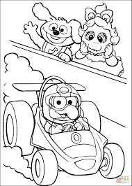 baby gonzo is race driver coloring page free printable coloring