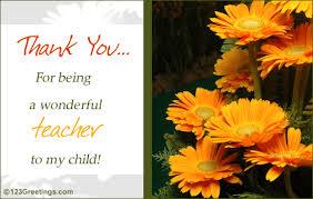 a wonderful free teachers day ecards greeting cards