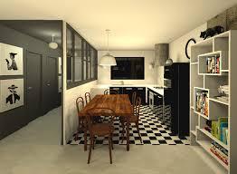 carrelage cuisine damier noir et blanc peinture carrelage noir free peinture chambre et noir