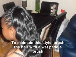 braids in front hair in back partial sew in weave tutorial with wavy braids loose deep curls