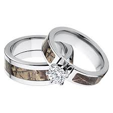 camo wedding ring sets his and s matching realtree ap camouflage wedding
