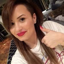 natural hair shaved side demi lovato s hair with a shaved side hair world magazine