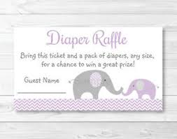 raffle baby shower purple chevron elephant printable baby shower raffle