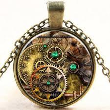 steampunk pendant necklace images Steampunk clock pendant necklace pluto99 jpg