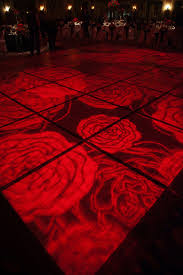 red rose dance floor lighting cool gobo or projection event