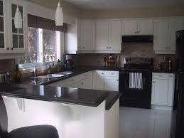 Small Kitchen With White Cabinets Pure Modern Black And White Kitchen Outofhome