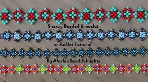 youtube beads bracelet images Snazzy beaded bracelet or anklet tutorial jpg