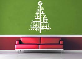 circuit christmas tree wall decal geekerymade circuit christmas tree wall decal