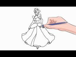 draw cinderella easy step step