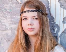 boho headband black boho headband etsy