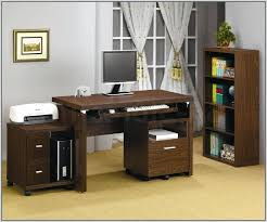 roll out computer desk computer and printer desk awesome with storage drop front drawer for