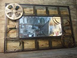 Industrial Bathroom Mirror by Old Industrial Goods Loft Style Movie Theme With Retro Wrought