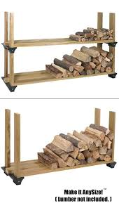 Free Firewood Storage Rack Plans by Amazon Com 2x4basics 90144 Firewood Rack System Black Home