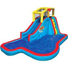 banzai slide u0027n soak splash park inflatable water slide lagoon