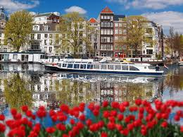 see the tulips in on a river cruise