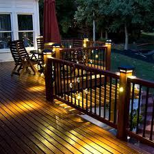 deck post cap lights best lighting ideas
