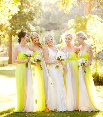 mariage original photo mariage original des tons verts et jaunes pour les