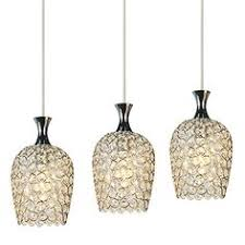 Pendant Lighting For Kitchen Island by Crystal Pendant Lights Over A Peninsula Bring A Touch Of Glam To