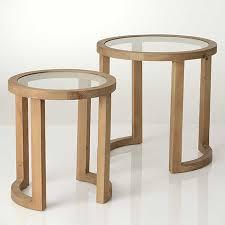 table bout de canapé table bout de canapé en bois et verre amadeus les boutiques de