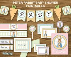peter rabbit u0027s baby shower printable party package