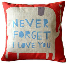 Red Pillows For Sofa by Amazon Com Never Forget I Love You Elephant Cotton Linen Throw
