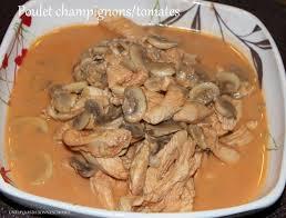 cuisiner des blancs de poulet moelleux poulet aux chignons et tomates recette au companion