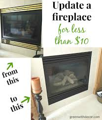 green with decor update the look of a fireplace