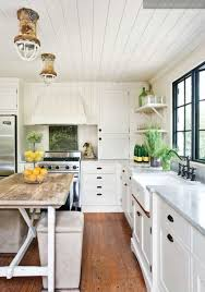 sleek white kitchen with shabby chic idea shabby chic kitchen