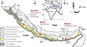 Frontal Boundary Map Lesser Himalayan Strata Wikipedia