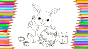 coloring page easter bunny coloring egg coloring fortoddlers and