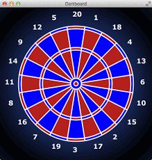 javafx javafx dartboard with shapes