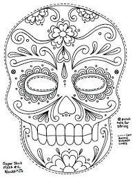 printable coloring pages sugar skulls sugar skulls coloring pages sugar skull coloring page printable