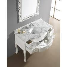 Bathroom Vanities Usa by Abodo 48 Inch Vintage Bathroom Vanity White Finish Solid Oak Wood