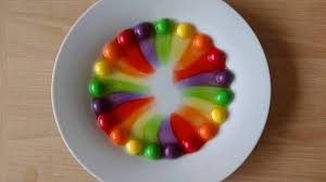 skittles colour diffusion experiment youtube