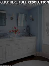 Navy Vanity by Light Blue Bathroom With White Vanity And Wall Sconces Blue