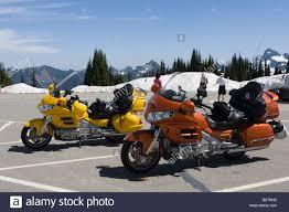 honda goldwing honda goldwing motor bikes at sunrise car park mount rainier